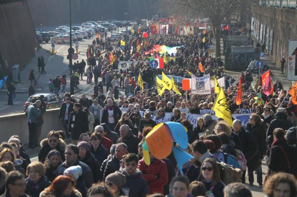 La marcia anti-mafia di Firenze (Foto Matteo Bovo)