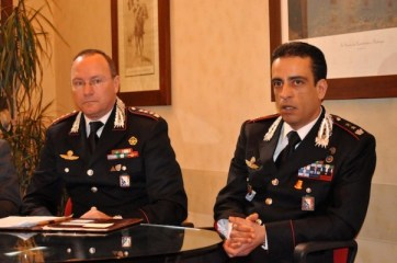 Il colonnello Andrea Taurelli Salimbeni e il tenente colonnello Alessandro Paris