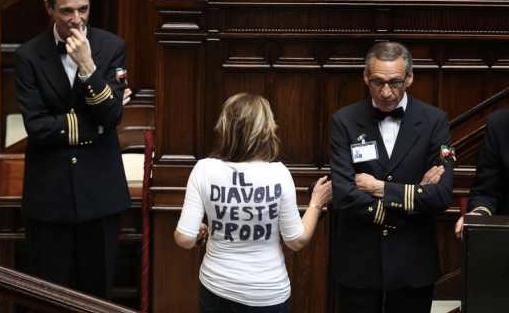 Romano Prodi bocciato dal parlamento riunito in seduta comune