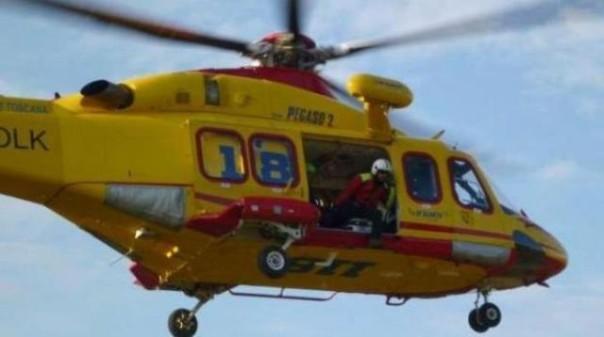 L'elisoccorso è intervenuto sul luogo dell'incidente nel grossetano