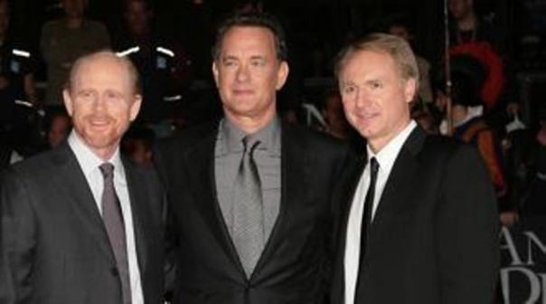 Ron Howard, Tom Hanks e Dan Brown