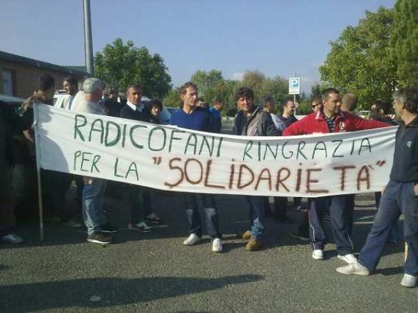 Gli operai della Rimor da tempo manifestano per il futuro della loro azienda