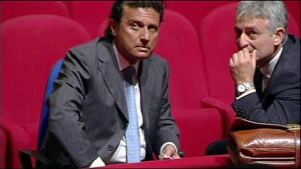 Francesco Schettino in aula a Grosseto al processo per il naufragio della Concordia