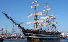 Marina militare: la nave scuola Vespucci alla volta di Anversa