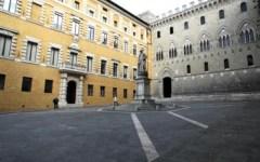 La sede dell'Mps a Siena