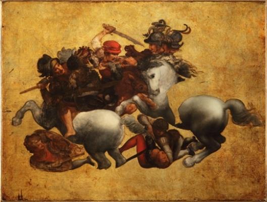 La «tavola Doria», raffigurante un particolare de «La battaglia di Anghiari» di Leonardo da Vinci