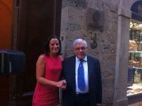 Antonella Mansi, presidente della Fondazione Mps, e Gabriello Mancini, ex presidente