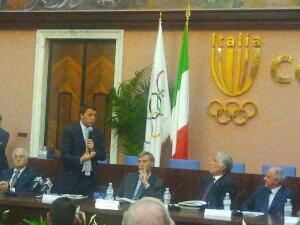 Mondiali di ciclismo, la presentazione di Matteo Renzi a Roma (foto via Twitter)