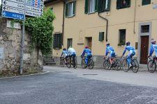 La Nazionale azzurra in allenamento sul percorso iridato fiorentino