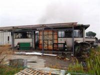 L'azienda a fuoco a Castiglion fiorentino