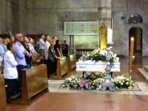 I funerali della piccola Rachele Medda
