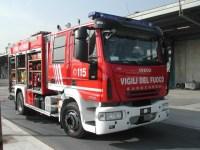 I pompieri hanno spento l'incendio di sterpaglie che si era creato