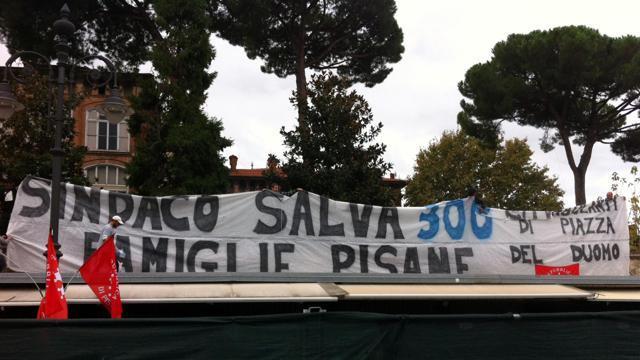 L'amara protesta dei proprietari delle bancarelle di Pisa