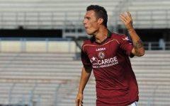 Livorno calcio, stop di Siligardi per una bestemmia