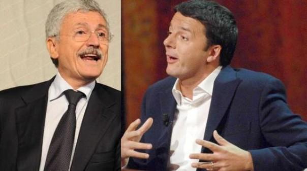 Massimo D'Alema e Matteo Renzi, amici-nemici
