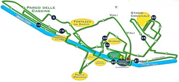 Il percorso della Firenze Marathon del 24 novembre 2013