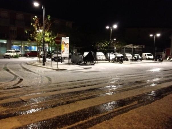 Fiocchi di neve a Pietrasanta