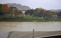 Un tratto dell'Arno a Firenze