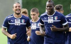 La coppia d'attacco italiana Osvaldo-Balotelli