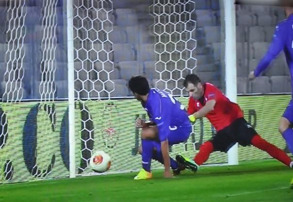 Il gol dell' uno a uno di Matos a Cluji