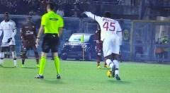 Balotelli tira la punizione del 2° gol
