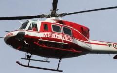 Badia a Prataglia (Ar): turista inglese cade nella neve, soccorsa dai vigili del fuoco con l'elicottero
