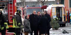 Il Governatore Rossi sul luogo della tragedia della fabbrica di Prato