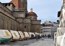 La serrata degli ambulanti di piazza S.Lorenzo