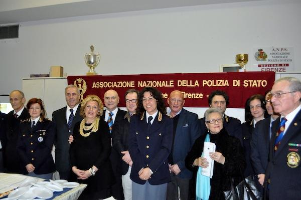 Un gruppo di soci dell'Anps di Firenze