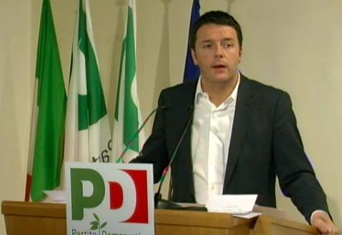 Matteo Renzi  verso Palazzo Ghigi