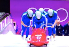 La squadra italiana di Bob a 4 alle Olimpiadi