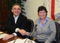 Enrico Rossi insedia Stefania Saccardi alla vicepresidenza