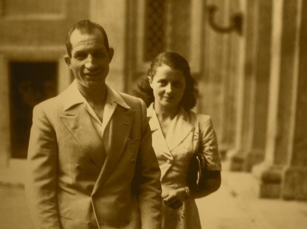 Gino Bartali con la moglie Adriana