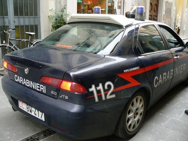 Intervento del 112 dei carabinieri