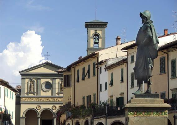 Piazza Matteotti, a Greve in Chianti