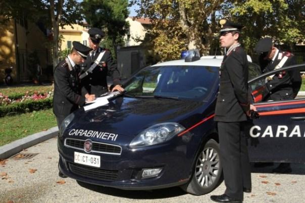 Le indagini sul raid vandalico sono condotte dai Carabinieri