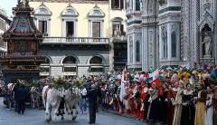 Lo scoppio del Carro della domenica di Pasqua, quando Firenze celebra la Resurrezione nel segno della tradizione