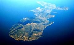Un'immagine aerea dell'Isola d'Elba
