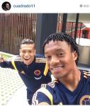 Il selfie con Guarin postato da Cuadrado sul suo profilo Instagram