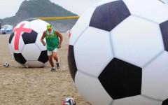 Brasile, palloni celebrativi del Mondiale