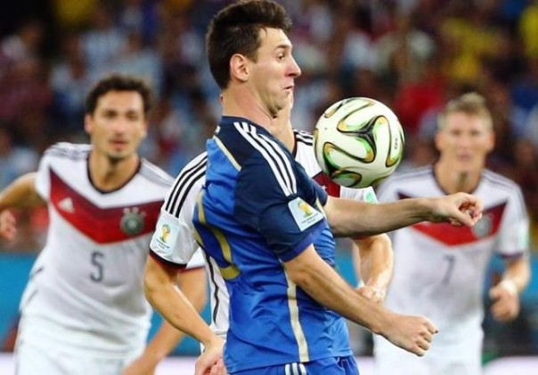 Germania-Argentina, Messi in azione