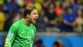 Krul, portierone olandese inserito da Van Gaal per parare i rigori: ne ha presi due ai costaricani qualificando gli arancioni per la semifinale contro l'Argentina