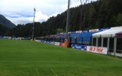 I tifosi della Fiorentina che sono già a Moena
