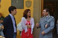 Il sindaco Nardella, l'assessore Bettini e il comandante Vadalà