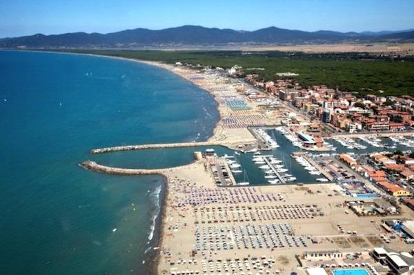 La spiaggia di Marina di Grosseto