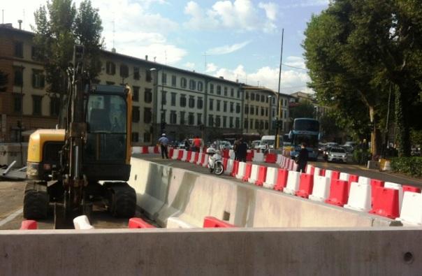 Cantieri della tramvia, nuova viabilità all'incrocio Strozzi-Lavagnini