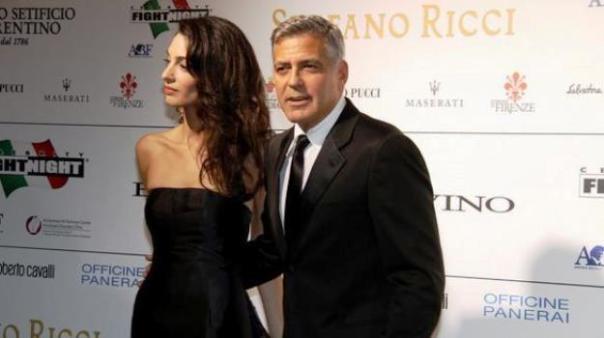 George Clooney con la fidanzata Amal