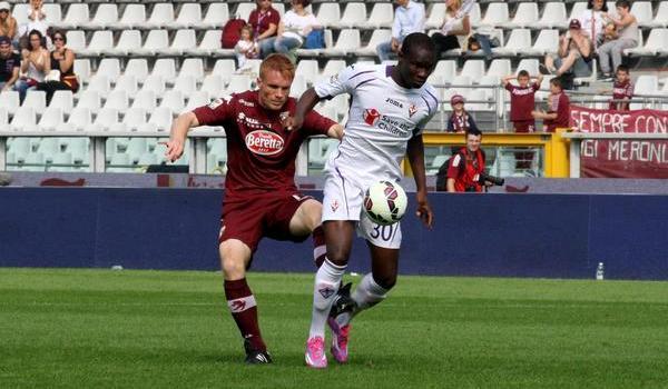 Babacar, autore del gol del pareggio: il secondo della Fiorentina in campionato