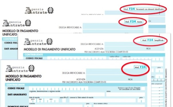 Fisco Modello F24 Ordinario Semplificato Accise Elide