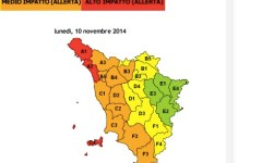 Maltempo in Toscana, nuova massima allerta meteo per lunedì 10 novembre